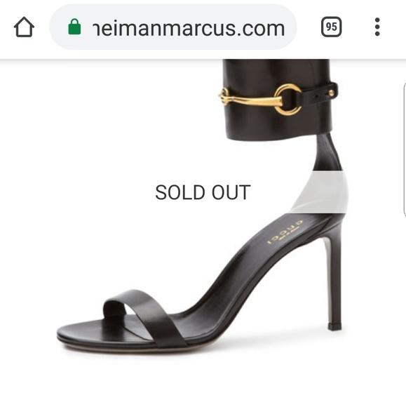 4cc11a9681d6 Gucci Shoes - Gucci 7 ankle wrap cage ursula neiman marcus 😘